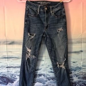 American Eagle Outfitters Jeans - Ripped American Eagle Blue Jeans